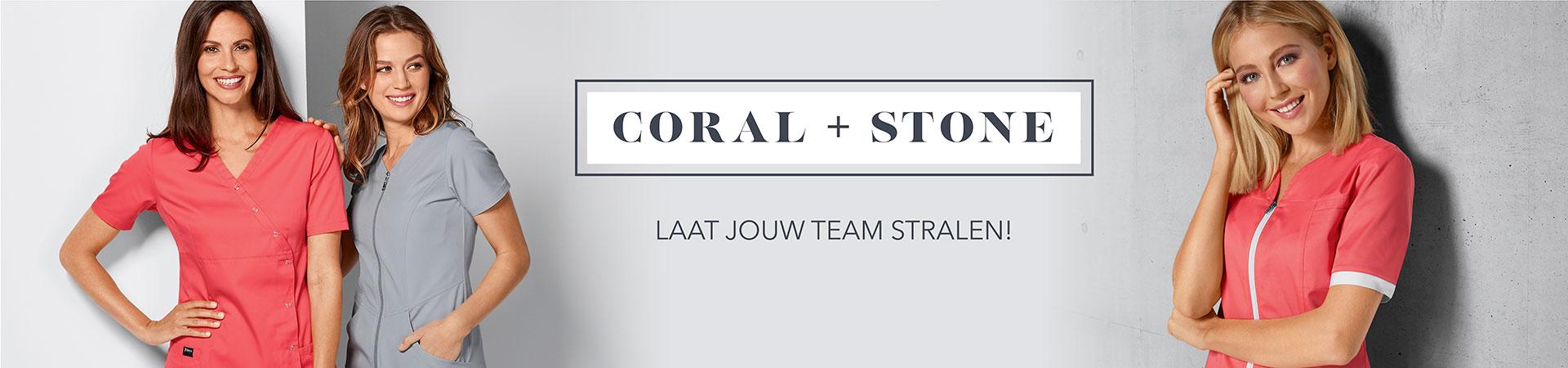 Beroepskledij coral + stone