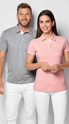 Poloshirts in Single Jersey